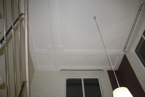 Современная отделка потолка на кухне.  Предыдущая.  Следующая.
